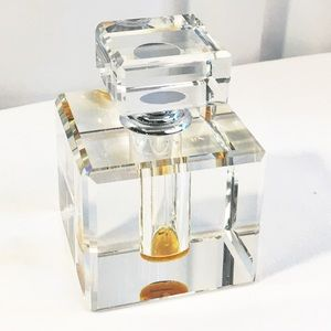 Perfect crystal perfume bottle